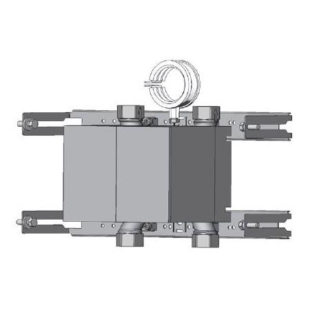 Unicount  Koax 2\'\' sans T pour système d\'installation TECEprofil (TECE) avec plaque de recouvrement blanche (blanc alpin)