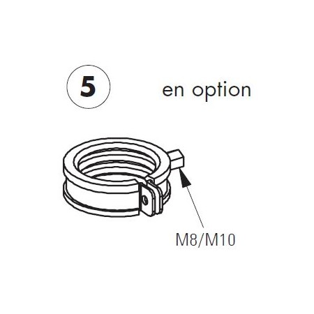 Rohrschelle für Unicount diamètre 54-56 mm