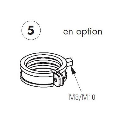 Colier de serrage pour Unicount diamètre 54-56 mm