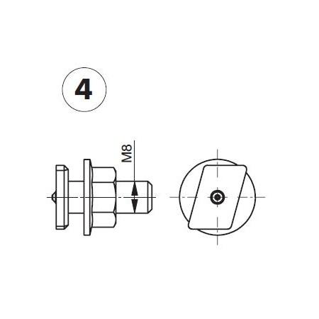 Befestigungsschrauben M8x25 (4 Stück) für GIS-System (Geberit)