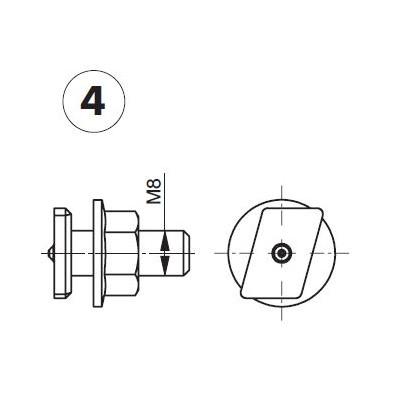 Vis de fixation M8x25  (4pièces) pour système GIS (Geberit)