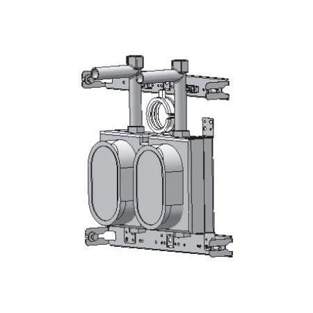 Deltamess Rohbauphase   Miniblock Koax mit T zu Installationssystem DUOFIX (Geberit)