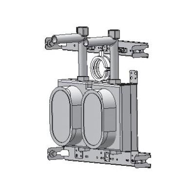 Deltamess Rohbauphase   Miniblock Koax mit T zu Installationssystem TECEprofil (TECE)