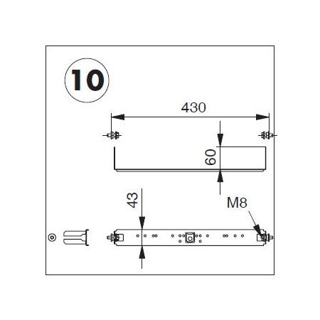 Armaturenplatte komplett mit Befestigungsmaterial zu System OPTIVIS (Nussbaum)