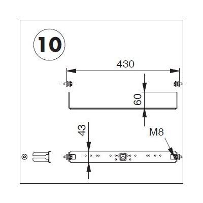 Plaque de raccordement complète avec fixation pour système OPTIVIS (Nussbaum)