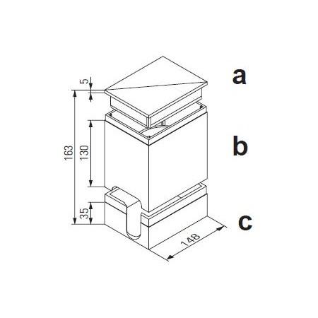 Bauschutz aus Polystyren (oben und unten) für Unicount