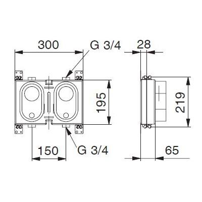 Rohbauset Miniblock Koax für Deltamess