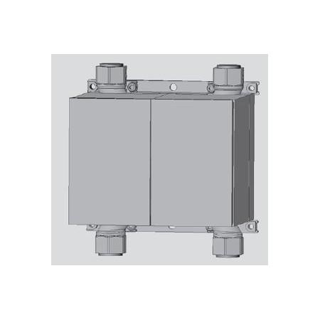 Unicount  Koax Box 2\'\' complet avec plaque de recouvrement blanche (blanc alpin)