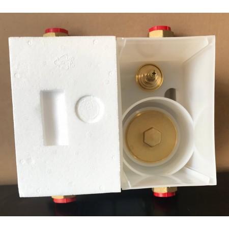 Unicount Koax Box 2\'\' complet avec plaque de recouvrement chromée