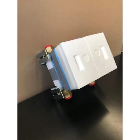 Unicount  Koax 2\'\' sans T pour système d\'installation GIS  (Geberit) avec plaque de recouvrement blanche (blanc alpin)