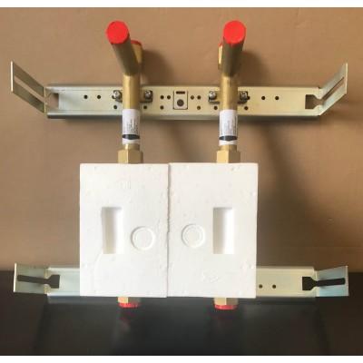 Unicount  Koax 2\'\' mit T zu Installationssystem OPTIVIS    (Nussbaum) mit verchromter Abdeckplatte