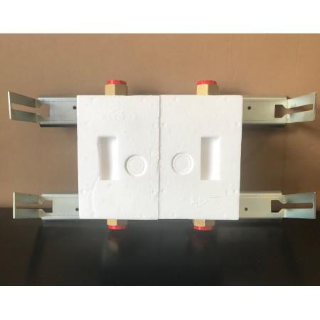 Unicount Koax 2\'\' sans T pour système d\'installation OPTIVIS  (Nussbaum) avec plaque de recouvrement blanche (blanc alpin)