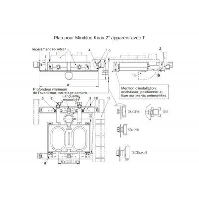Set de fixation (4pièces, vis et rondelles) pour système DUOFIX (Geberit)