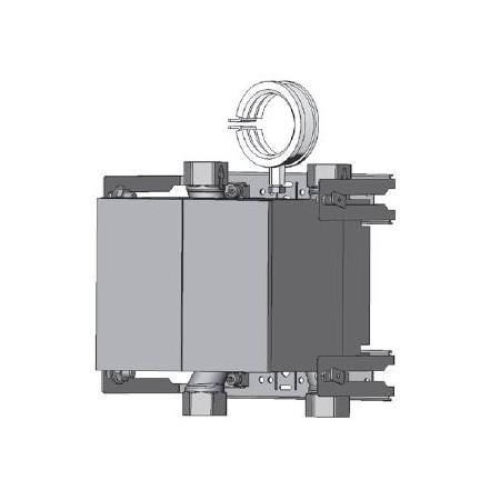 Unicount  Koax 2\'\' sans  T pour système d\'installation GIS  (Geberit) avec plaque de recouvrement chromée