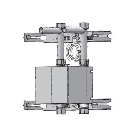 Unicount  Koax 2\'\' avec T pour système d\'installation DUOFIX   (Geberit) avec plaque de recouvrement chromée