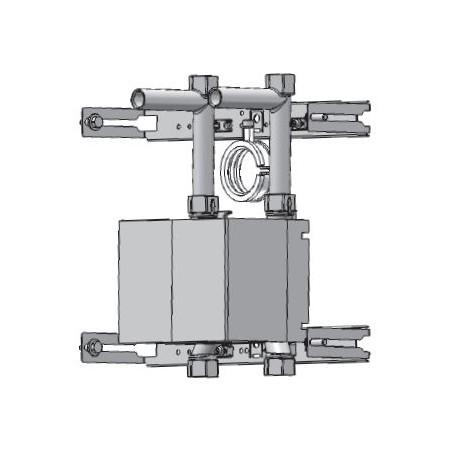 Unicount  Koax 2\'\' avec T pour système d\'installation OPTIVIS    (Nussbaum) avec plaque de recouvrement blanche (blanc alpin)