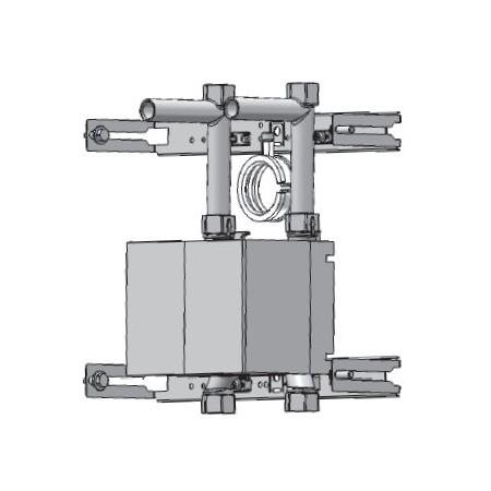 Unicount Koax 2\'\' avec T pour système d\'installation TECEprofil  (TECE) avec plaque de recouvrement chromée